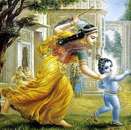 Mother Yashoda and Krishana