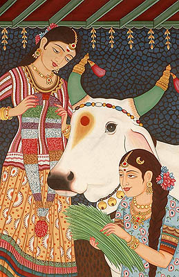 Adoration of Mother Cow