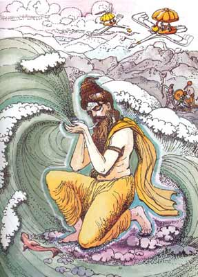 Sage Agastya swallows the Sea
