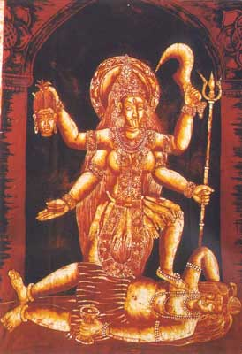 Batik Painting of Goddess Kali