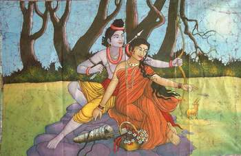 Sita and Rama in Exile