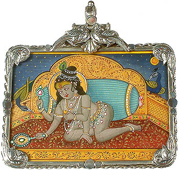 Cosmic Form of Baby Krishna Pendant