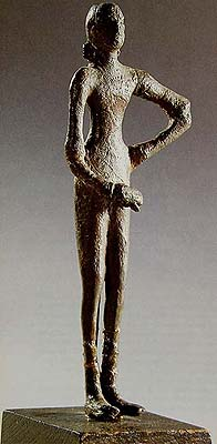 The Undraped Dancer (Metal) Signifying her Lower Status