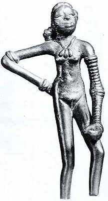 Female Deity from Mohenjo-daro (Indus Valley) with Exposed Genitals