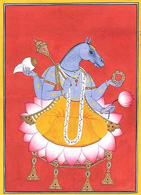 Vishnu as Hayagriva