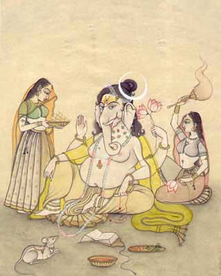 Ganesha with Consort
