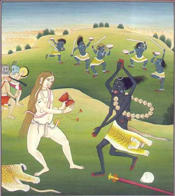 Dance of Kali and Shiva