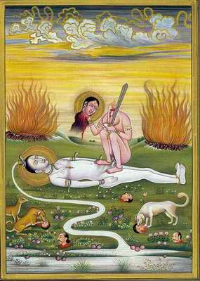 Devi with Sword and Severed Head
