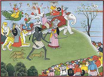 Annihilation of Demons Shumbha and Nishumbha
