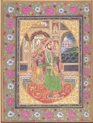 Shah Jahan Enthroned
