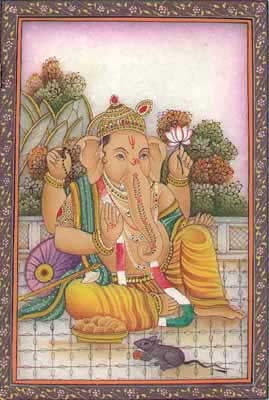 Miniature Paintings of Ganesha