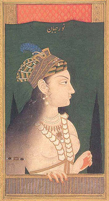 Portrait of Nurjahan circa 1740 - 1750, (National Museum, New Delhi).
