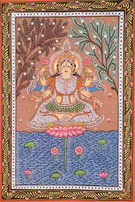 The Lotus Goddess of the Cosmic Sea