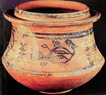 Pot with Peacock Motif