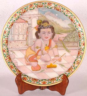 Little Krishna Eating Laddoos