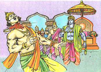 Lord Krishna slays Shishupala