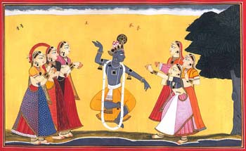 Singing and Dancing with Krishna