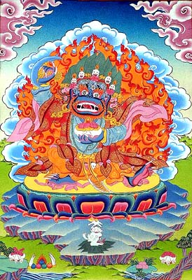 Thangka Painting of Mahakala