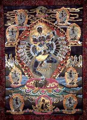 Black Tibetan Thangka Painting