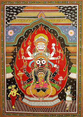 The Trinity of Balarama Subhadra And Krishna at the Temple of Jagannatha