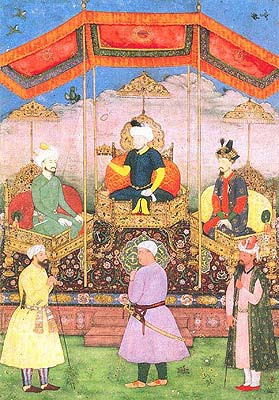 Timur with Babur and Humayun