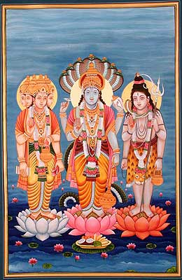 The Trinity of Brahma, Vishnu, and Mahesha