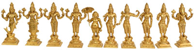 Dashavatara (Ten Incarnations of Lord Vishnu)
