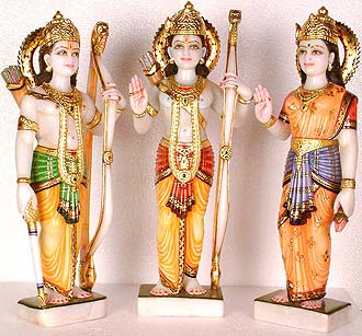 Rama and Family (Rama, Sita and Lakshmana)