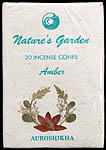 Amber - Nature's Garden Incense Cones (Pack 4 Packets)
