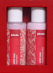 Fabindia Pack of Wild Rose body wash & Moisturising Lotion