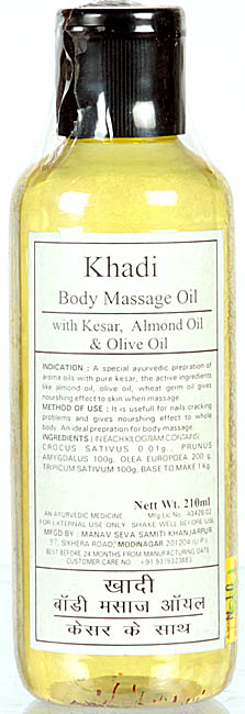 Khadi Body Massage Oil with Kesar, Almond Oil & Olive Oil