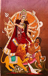 Ten-Armed Durga Killing Demon Mahisha