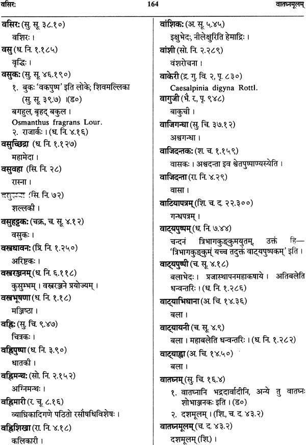 DRAVYAGUNAKOSAH: Dictionary of Ayurvedic terms relating to names, synonyms  properties and actions of Medical Plants (Sanskrit-Hindi-English)