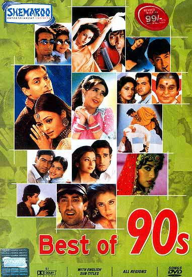 Best Of 90s Famous Hindi Film Songs From The 1990 S Dvd