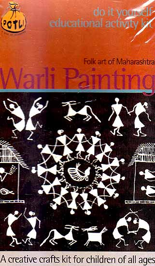 Warli painting folk art of maharashtra do it yourself educational warli painting folk art of maharashtra do it yourself educational activity kit altavistaventures Image collections