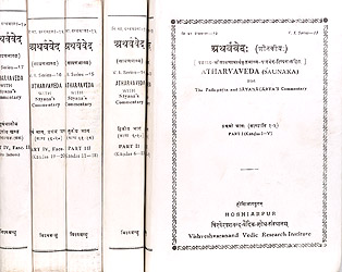 Atharvaveda (Saunaka) with The Pada-patha and Sayanacarya's Commentary (In Five Volumes) - Sanskrit Only