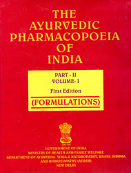 The Ayurvedic Pharmacopoeia of India (Part-II, Volume-I) Formulations