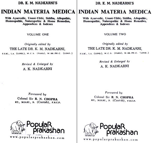 nadkarni indian materia medica