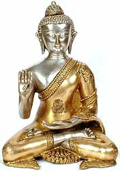 Buddha in the Abhaya and Dhyana Mudras