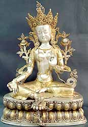 Large Statue of Green Tara