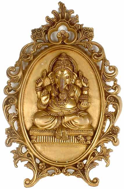 Lord Ganesha Decorative Altar Wall Hanging