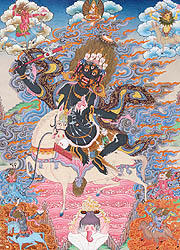 Goddess Palden Lhamo - Who Rides on a Sea of Blood