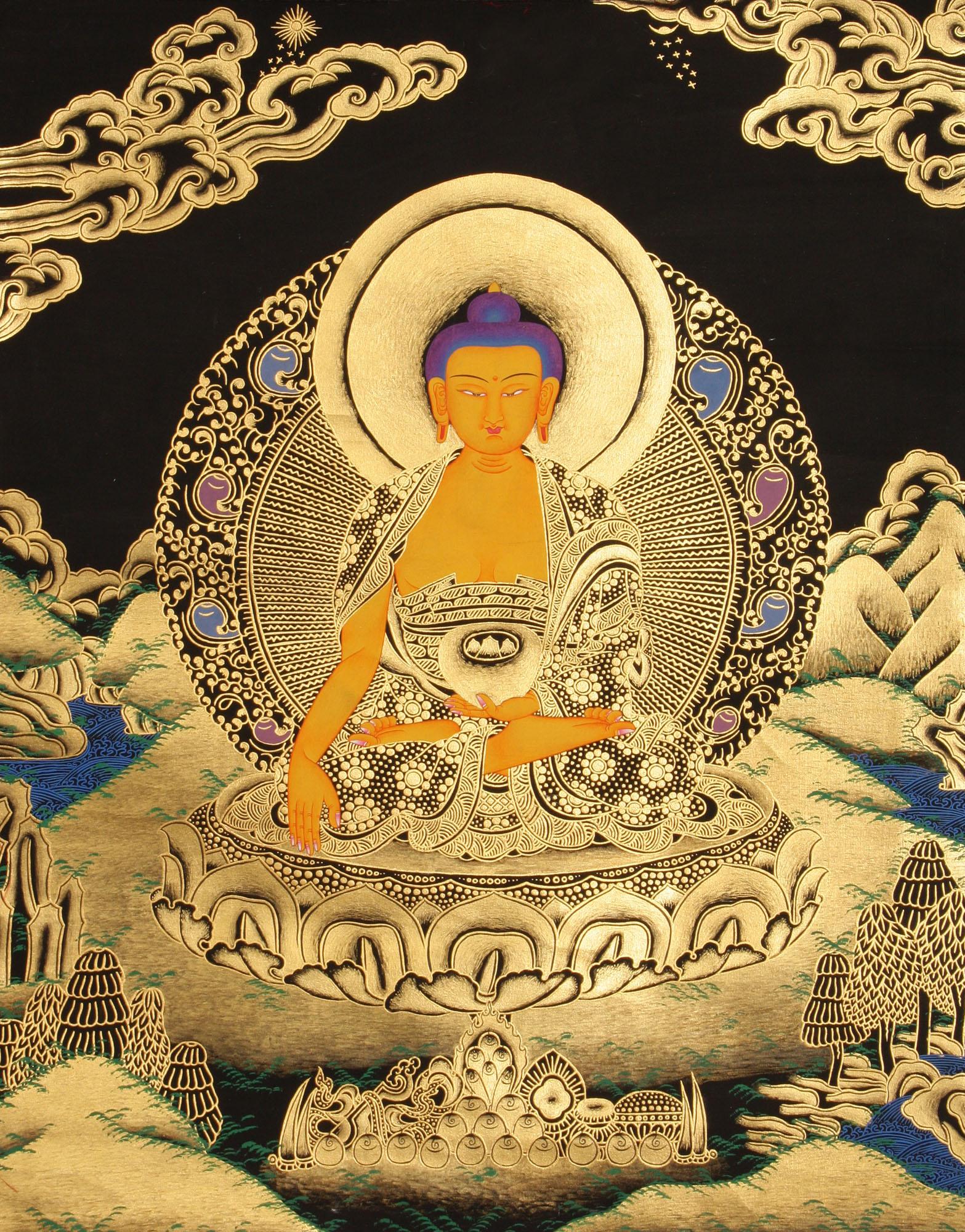 Tibetan Buddhist God Shakyamuni Buddha