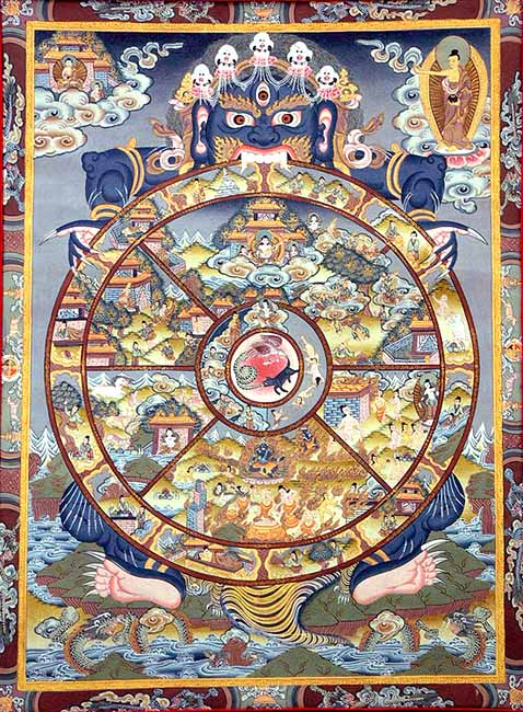 The Wheel of Life (Srid pahi hkhor lo), also known as The Wheel