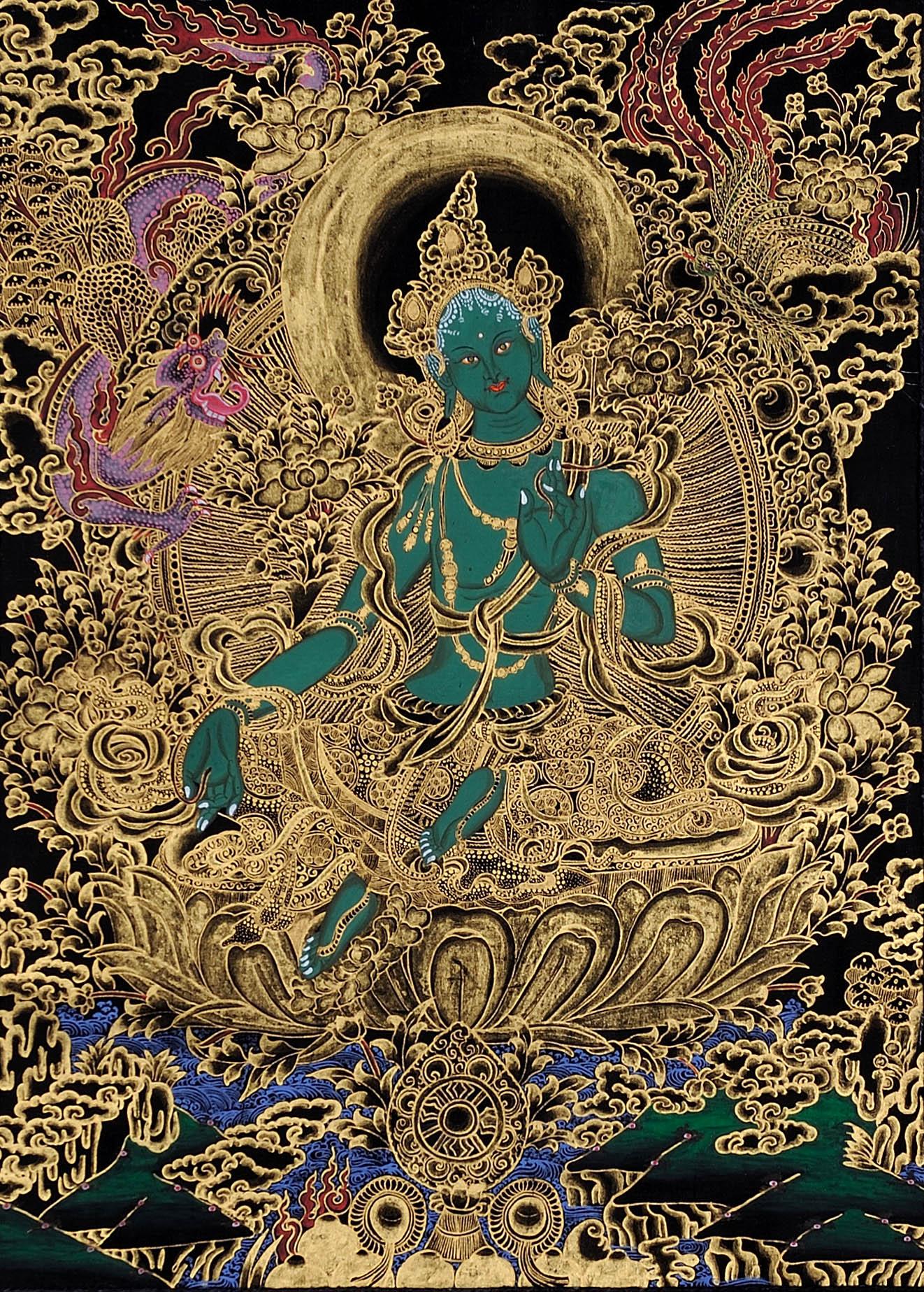 Green Tara 3: Dark Emerald Goddess Green Tara