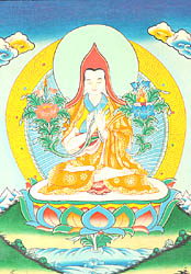 Tsongkhapa with Wisdom Sword and Scripture
