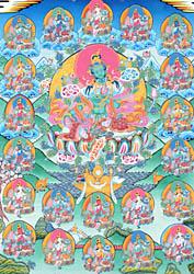 Twenty One Forms of Goddess Green Tara