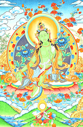 Superfine Portrait of Goddess Green Tara