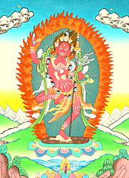 The Female Buddha Vajravarahi (Goddess Red Tara)