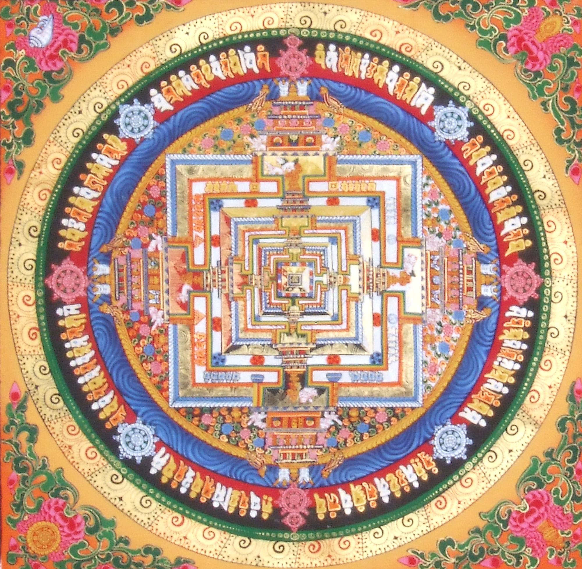 Tibetan Buddhist Kalachakra Mandala